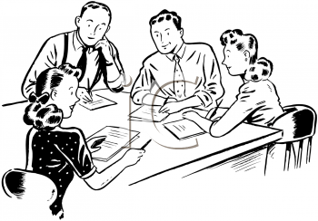 Royalty Free Meeting Clip art, Business Clipart