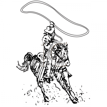Royalty Free Cowboy Clip art, People Clipart