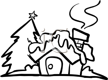 Royalty Free Cottage Clip art, Buildings Clipart