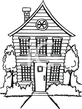 Royalty Free House Clip art, Buildings Clipart