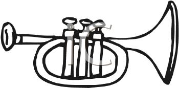 Royalty Free Trumpet Clip art, Entertainment Clipart