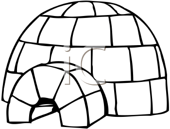 Royalty Free Igloo Clip art, Buildings Clipart