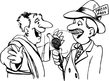 Royalty Free Reporter Clip art, People Clipart