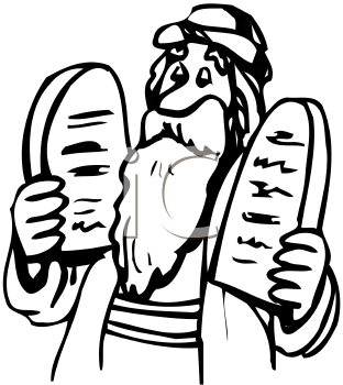 Royalty Free Moses Clip art, People Clipart