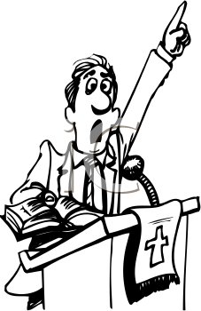 Royalty Free Preacher Clip art, Occupations Clipart