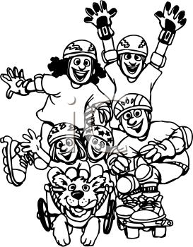 Royalty Free Skating Clip art, Entertainment Clipart