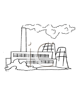 Royalty Free Factory Clip art, Buildings Clipart
