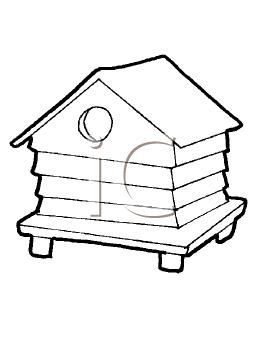 Royalty Free Birdhouse Clip art, Buildings Clipart