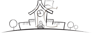 Royalty Free University Building Clip art, Buildings Clipart