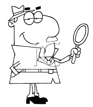 Royalty Free Detective Clip art, Occupations Clipart
