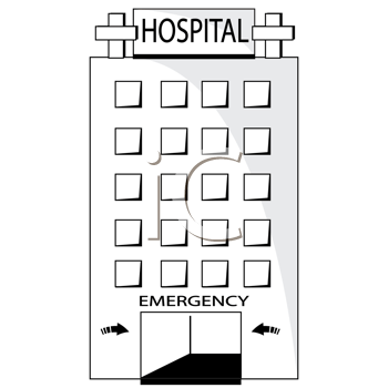 Royalty Free Hospital Clip art, Buildings Clipart