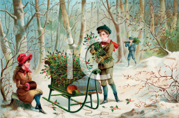 Royalty Free Victorian Christmas Clipart