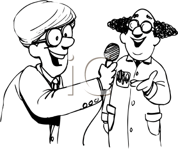 Royalty Free Reporter Clipart
