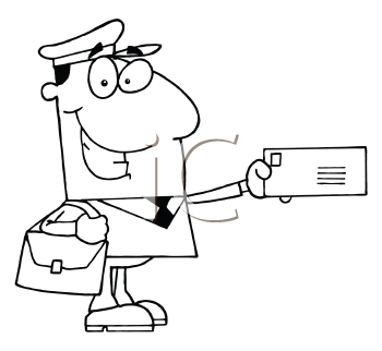 Royalty Free Mailman Clipart
