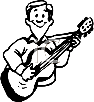 Royalty Free Guitar Clipart
