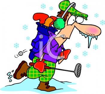 Image result for winter golf clipart
