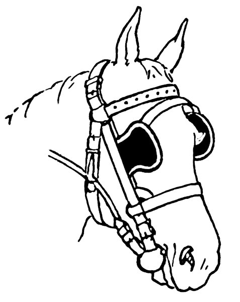 Free Black and White Horse Clipart, 2 pages of Public