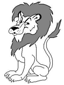 Free Black And White Lion Clipart 1 Page Of Public Domain Clip Art