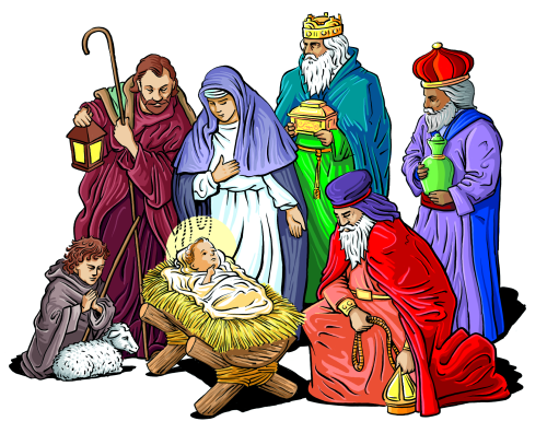 free nativity clipart - public