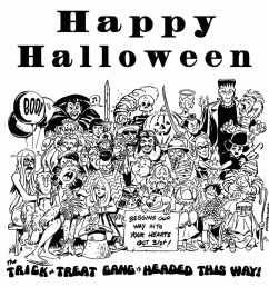 free black and white halloween clipart [ 1000 x 946 Pixel ]