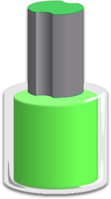 Colorfull Nail Polish Clipart