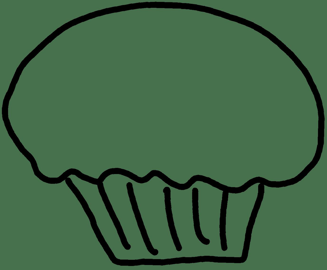 black white cupcake clipart
