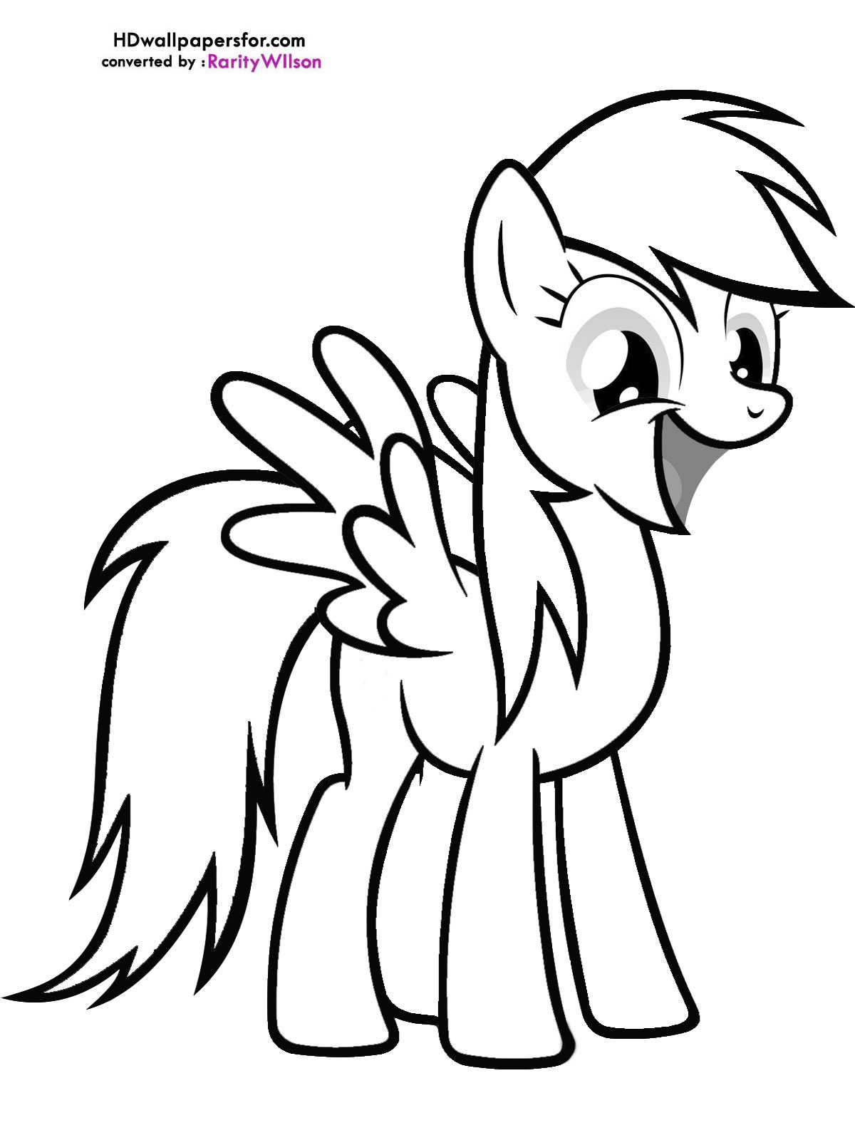 Mlp Coloring Pages Derpy Coloring Page