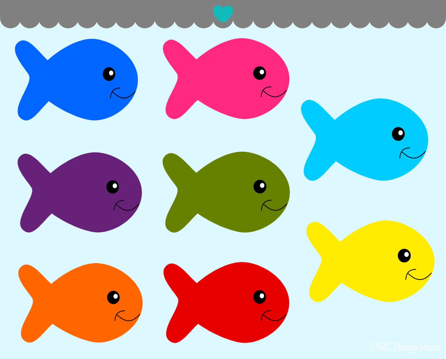 hight resolution of clipart fish