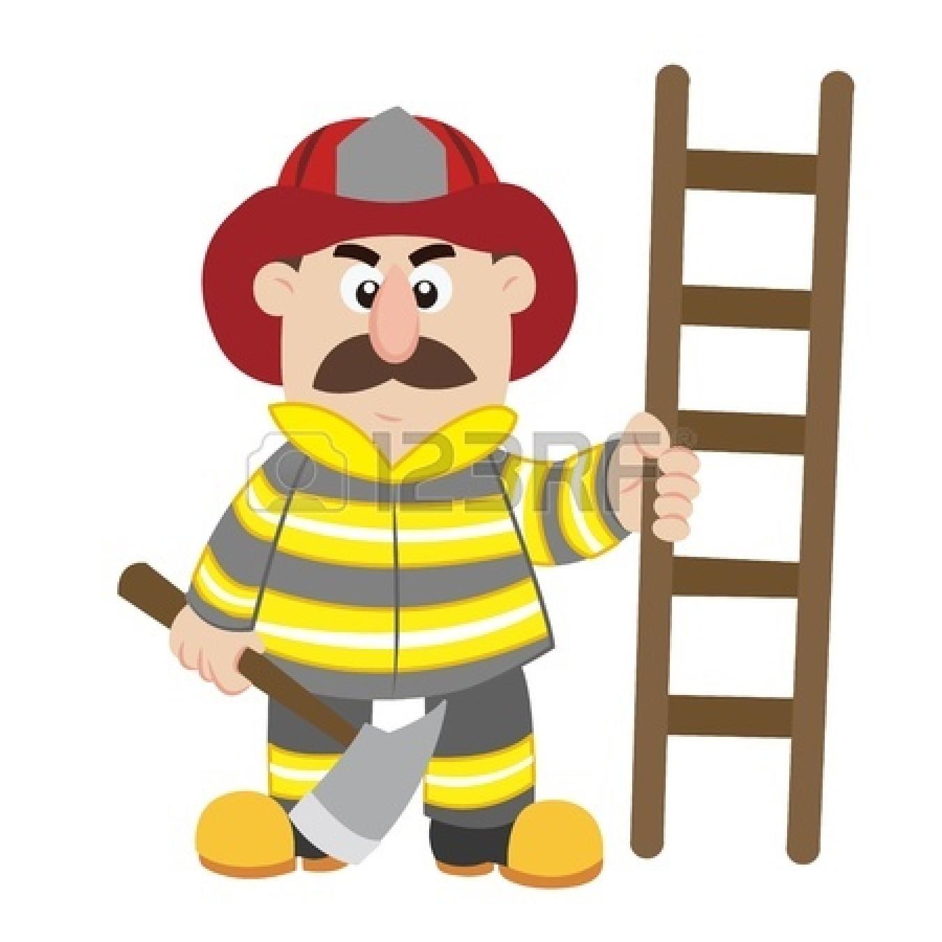 of cartoon fireman vector