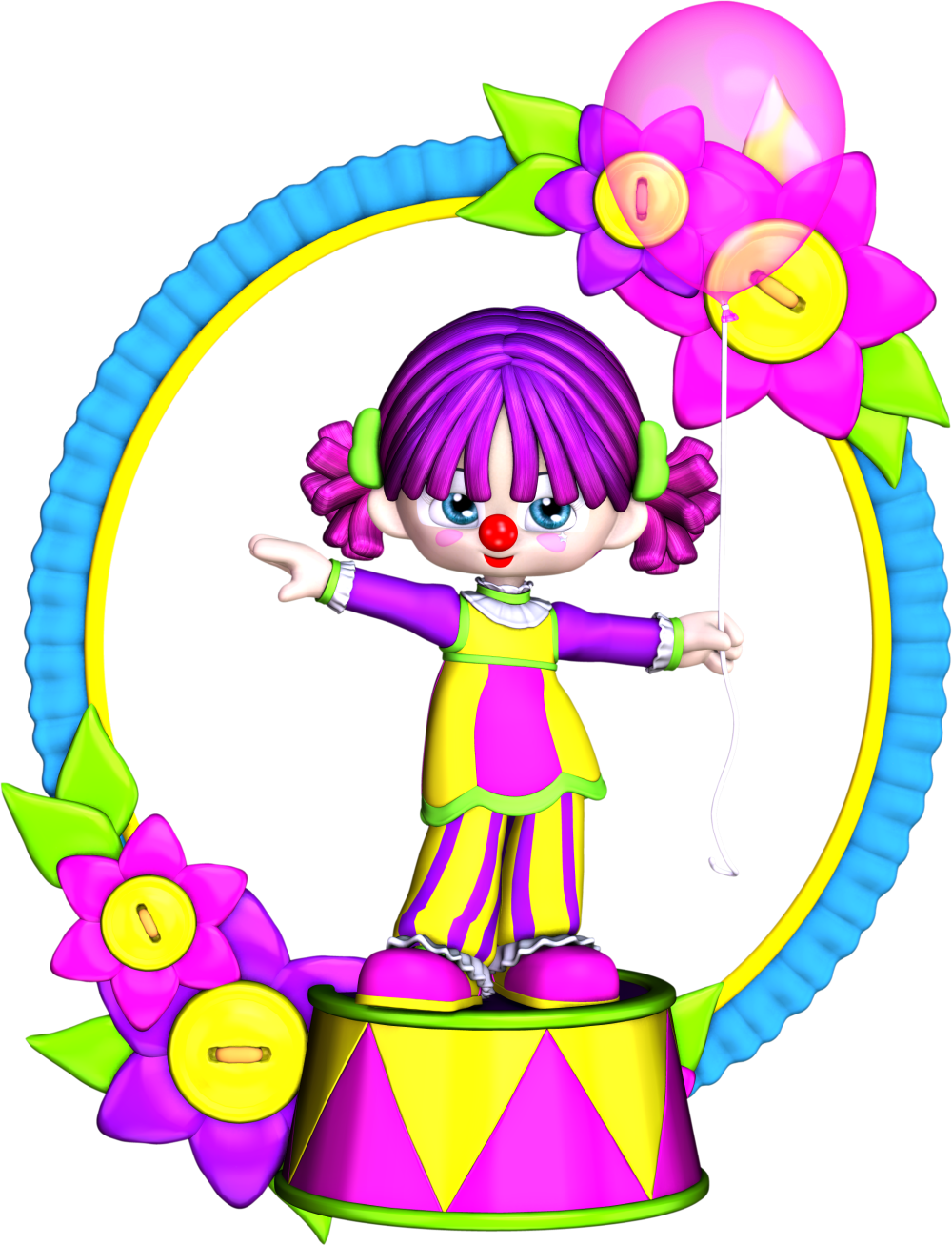 Free Birthday Clown Clipart