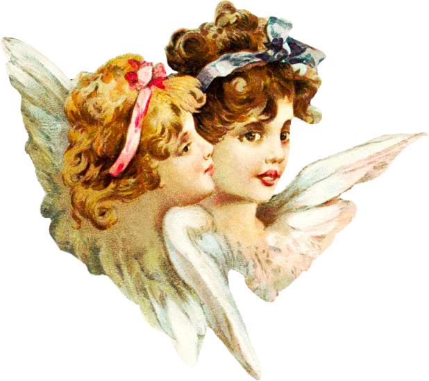 Victorian Smiling Angels Clipart