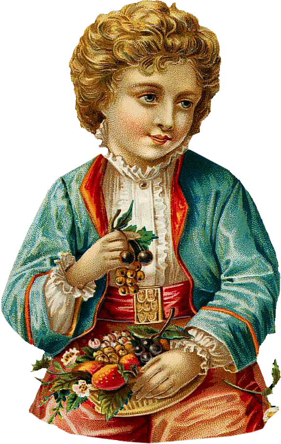 ClipArtPlace_Victorian_boy_with-Grapes_Clipart.png