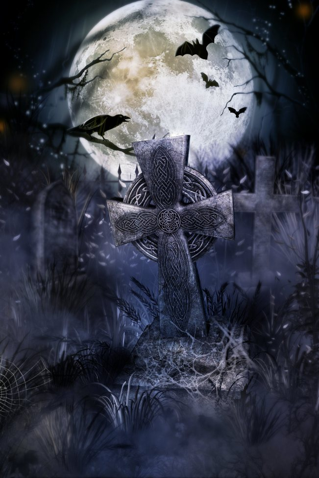 Free Graveyard Wallpaper - WallpaperSafari  Halloween Tombstone Background