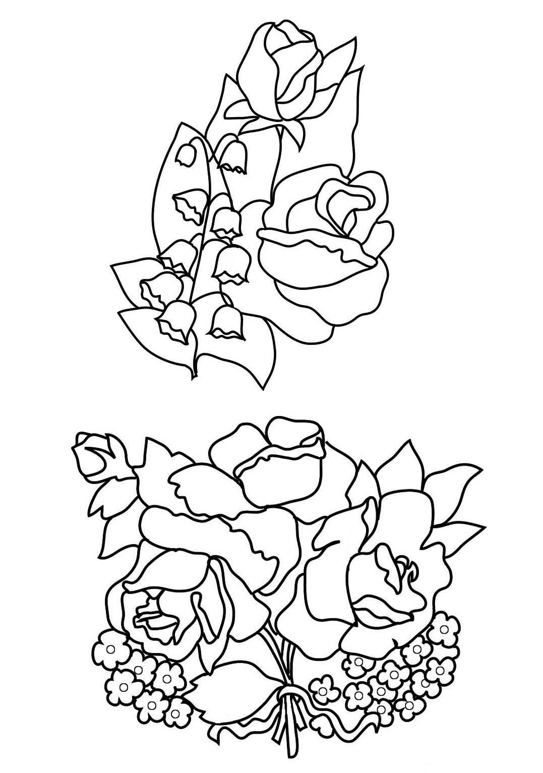 Flower Bud Preschool Coloring Pages