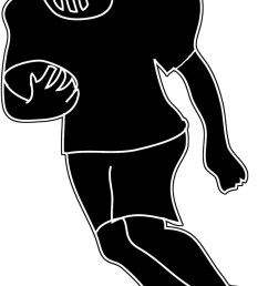 silhouette of football player football clipart american football [ 673 x 1181 Pixel ]