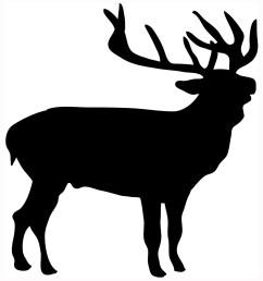 deer silhouette stag  [ 992 x 1060 Pixel ]