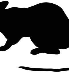 animal silhouette of beaver silhouette of mouse with long tail [ 1200 x 720 Pixel ]