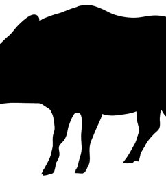 black silhouette of wolf wild boar silhouette in black [ 1200 x 766 Pixel ]