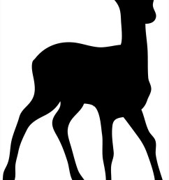 silhouette of stag silhouette of young deer [ 992 x 1569 Pixel ]