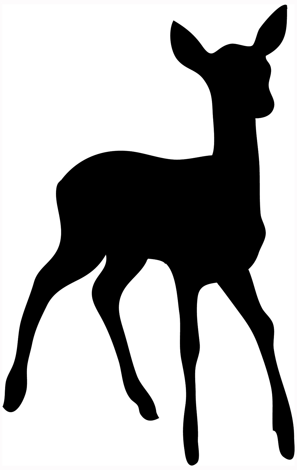 hight resolution of silhouette of stag silhouette of young deer