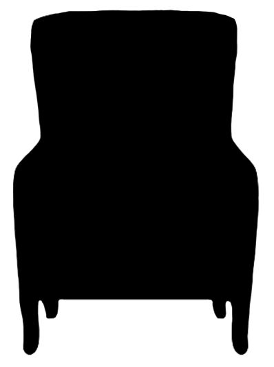 chair step stool pine table and chairs silhouette clipart