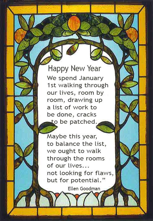art nouveau New Year card