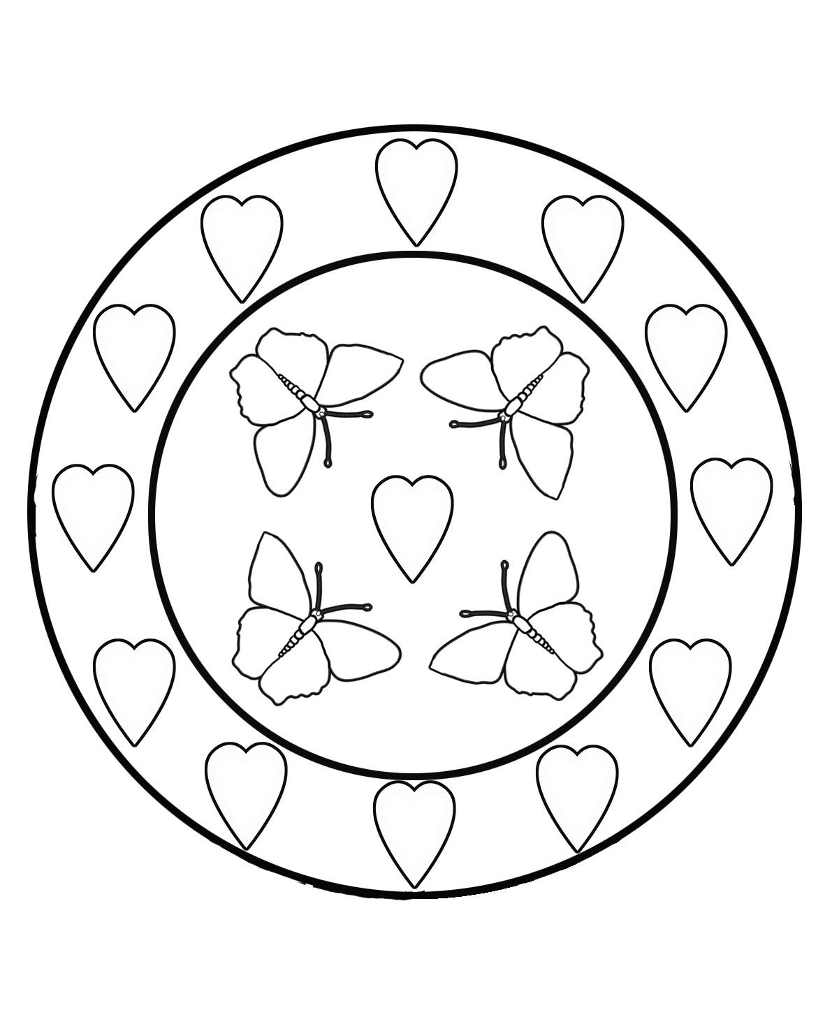 Queen Hearts Coloring Sheet