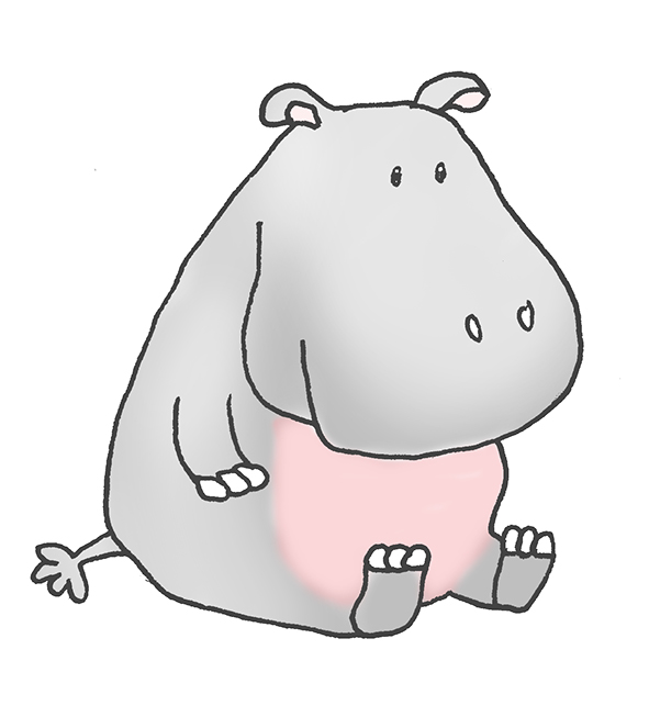 Cartoon Hippo Clipart