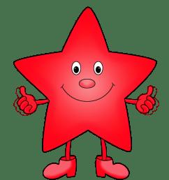 green star red cartoon star clipart [ 945 x 1067 Pixel ]