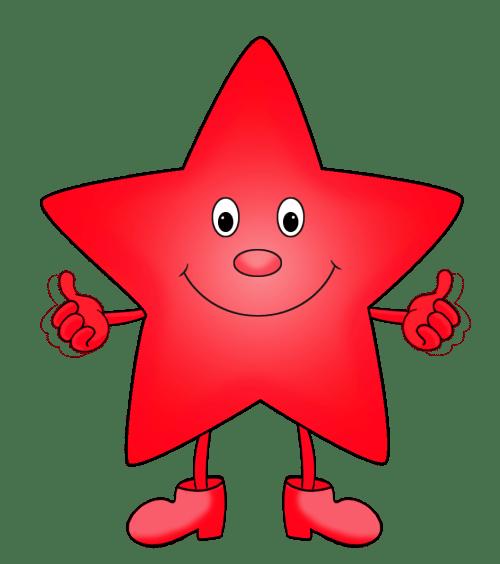 small resolution of green star red cartoon star clipart