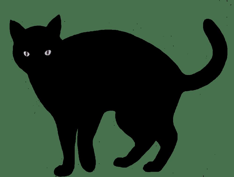 medium resolution of cat clip art silhouette
