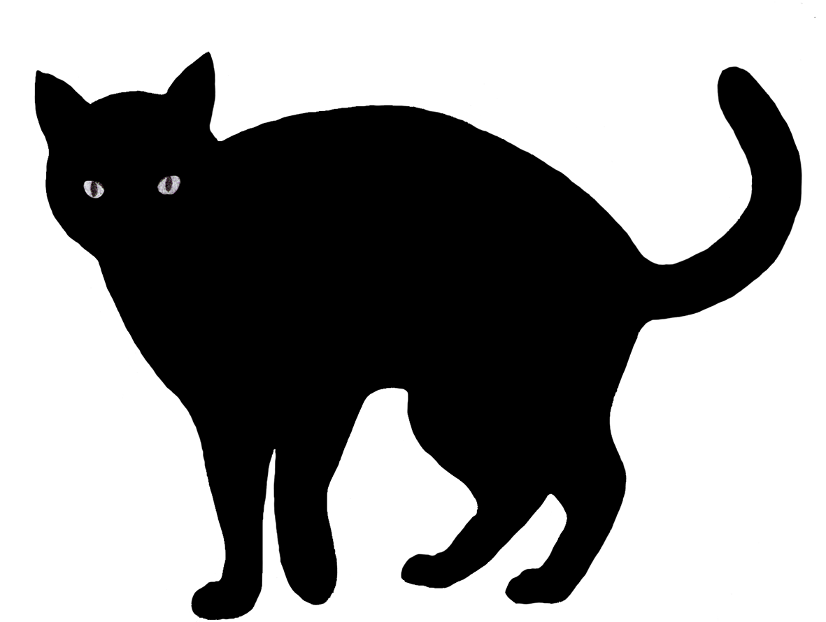 hight resolution of cat clip art silhouette