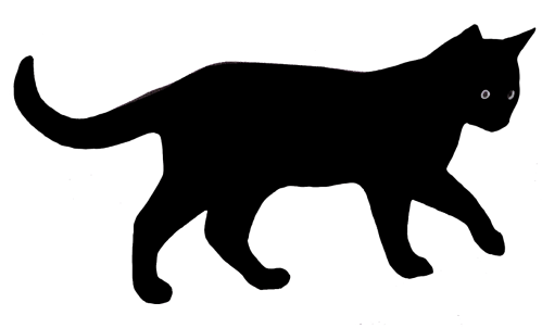 small resolution of cat clip art silhouette silhouette of walking cat