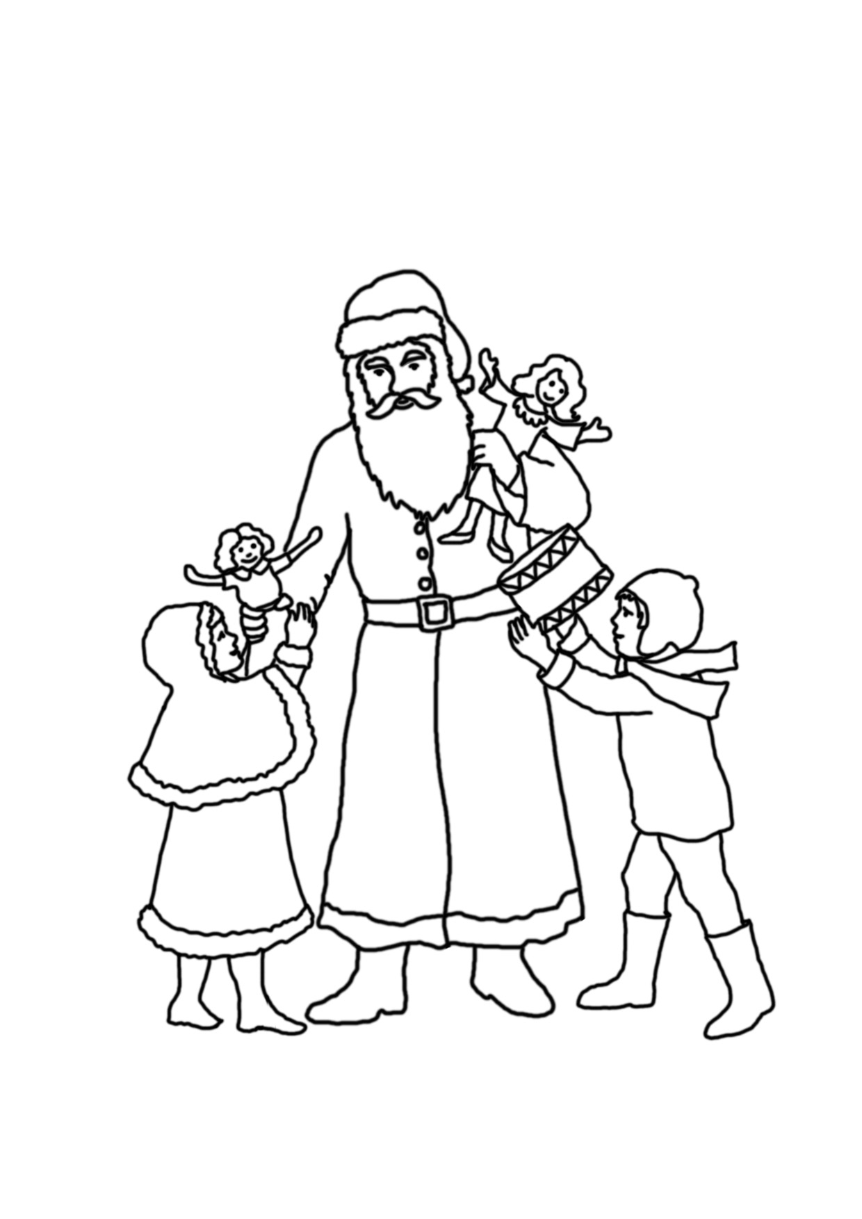 Santa Claus Coat Coloring Pages Sketch Coloring Page